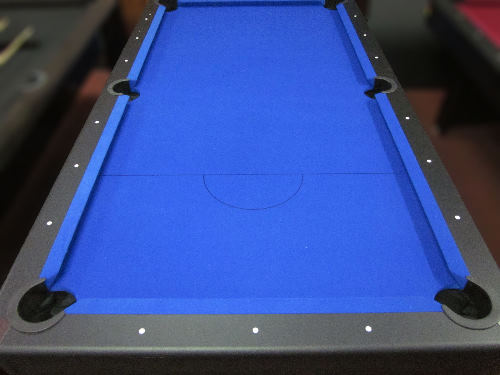 FOOT BLUE FELT POOL TABLE WITH TABLE TENNIS AND ACCESSORIES EBay - Black pool table with blue felt
