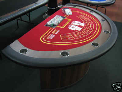 Professional Baccarat Table With Dealer Pit For Hire